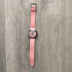 SWATCH IRONY CHRONOGRAPH Ladies Pink Quartz Watch